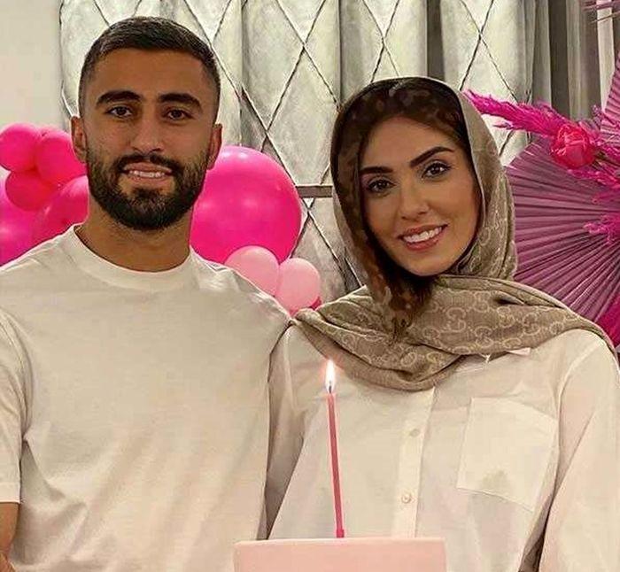 ازدواج کاوه رضایی با این دختر ورزشکار | کاوه رضایی و همسرش فرنوش شیخی