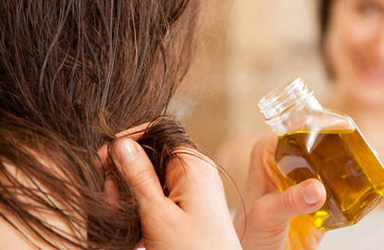 روش روغن زدن به مو