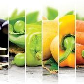 سبزیجات و میوه های رنگارنگ