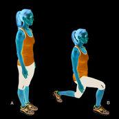 فواید حرکت ورزشی لانژ