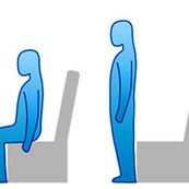 ایستادن بر روی صندلی(بدون وزنه)